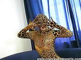 Hot catwoman exposes vagina