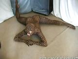 Doll being flexible feline