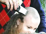 Petra having a hair cut