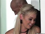 Blond babe enjoying huge cock fucking