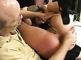 Diaper position spanking for shameful slut in pain - tight cunt and asshole on show