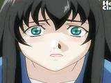 Hentai chick gets locked