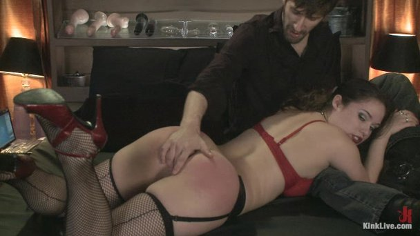 Black Tranny Ties Up Guy in Basement and Jerks His