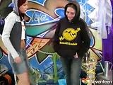 Flirting lesbian teens
