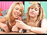 Mommy Shows Teen How to Make a Cock Spurt