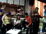 Plumpers with big tits at drunken party