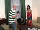 His GF does fun porn with parents