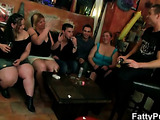 Plumper ass is big in great orgy