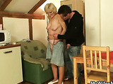 He helps her get off with his young cock