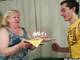 Birthday boy fucks his mother in law