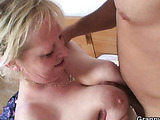 Luscious sex with granny
