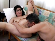 Mature Arab couple having