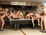 Pool Hall Orgy Junkies