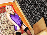 Playful blonde spinner, Natisha