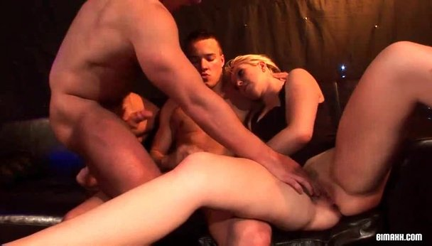 Bisex dudes cumming slut