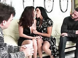 Drunk housewives get horny video