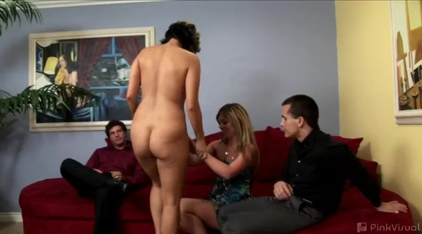 Wife strips naked at party