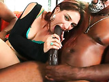 Babe plays big black cock movie
