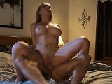 Busty slut jumps on cock