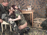 Military man gets his cock sucked