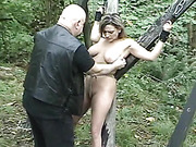 Still Outdoor multiple female bdsm