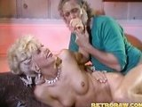 Old guy in retro porn movie