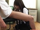 Asian teen eating sperm
