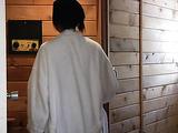 Back cock in Asian asses in sauna