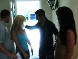 Fuckbunny swapper wife goes a rowdy cowgirl on a huge dick while the other bitch gets it hard sideways
