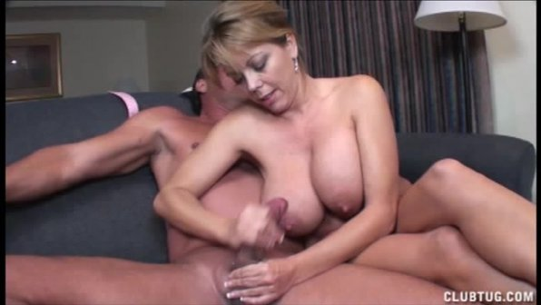 Naughty Milf Jerks Off A Naked Young Dude - XVIDEOSCOM