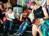 Tough fucking party of bisexual people multi-colored-hair-lovers