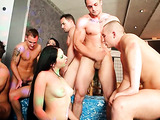 Guys jacking off and cumming onto their bisexual partners