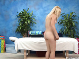 Lovely blonde teeny allows to fuck her after dirty oil massage