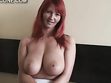 Huge natural tits get a hotel room fuck
