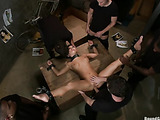 Very hot Asian start gets involved into dirty interracial group fucking with bondage