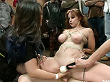 Busty ginger mom with shinju gets her cunt fisted constantly and tortured in public