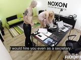 Busty blondie gets her ass and pussy licked ater a blowjob and hard fucking with a creampie