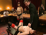 Dirty bdsm tortures and fucking of men and women in front of eating people