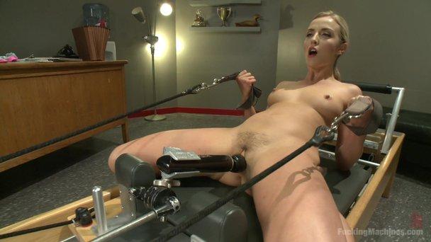 Fucking machine cum