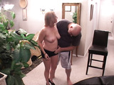 Chubby blonde mom in tattoos and high heels fucking with a stranger