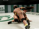 two ebony girls battle it out in the ultimate surrender match and eat ass cake afterwards