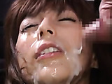 Nasty Japanese chick gagging with a thick dick after a hot cumshot