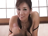 Smoking-hot mature babe from Japan with big juggs is a real master of giving hand- and blowjobs