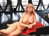 Nude cherry big tits milf drills her pussy with white vibrator and fingers