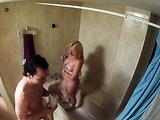 Horny dude walks in on showering girlfriend and fucks her good