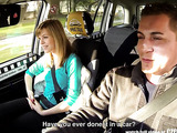 Handsome driver fucks a beautiful blonde gal